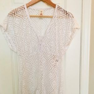 White Beach Cover Up Size Large (11-13)